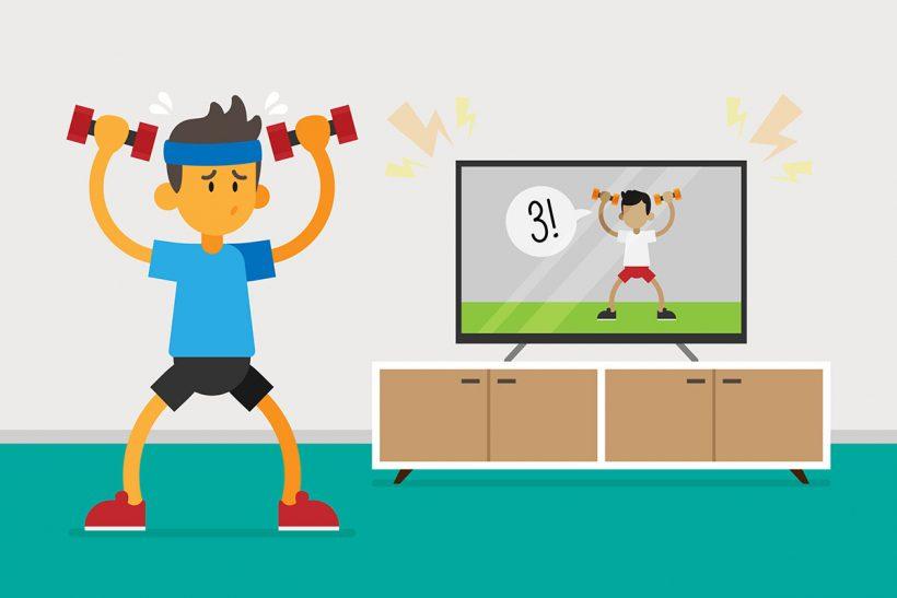comment faire une séance de sport à la maison ?